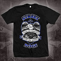 Street Dogs- Stand Or Die on a black shirt - Sale sz S only