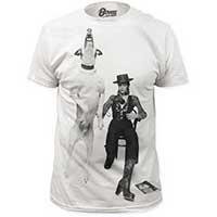 David Bowie- Diamond Dog Photo (Subway Print) on a white ringspun cotton shirt