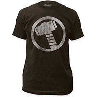 Marvel Comics- Thor Vintage Hammer on a charcoal ringspun cotton shirt