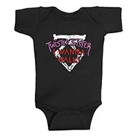 Twisted Sister- I Wanna Walk on a black onesie (S- 0-6m, M- 6-12m, L- 12-18m, XL- 18-24m)