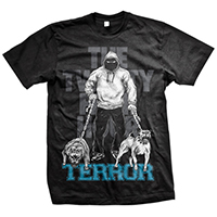 Terror- Dogs on a black shirt