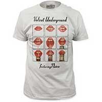 Velvet Underground- Featuring Nico (Lips) on a white ringspun cotton shirt