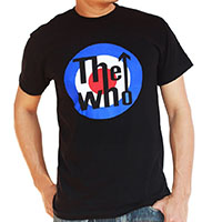 Who- Mod Logo on a black shirt