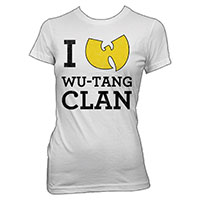 Wu Tang Clan- I Love on a white girls fitted shirt