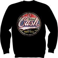 Johnny Cash- Original Rock N Roll on a black crewneck sweatshirt (Sale price!)