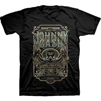 Johnny Cash- ESTD 1932, Nashville TN on a black ringspun cotton shirt (Sale price!)