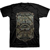Johnny Cash- ESTD 1932, Nashville TN on a black ringspun cotton shirt (Sale price!)